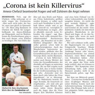 Coronavirus-Medizinforum NZ 28.02.2020